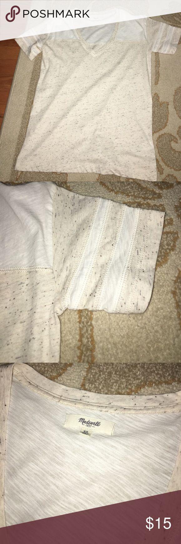 Brand new madewell varsity striped cream tee Brand new, XS Madewell Tops Tees - Short Sleeve
