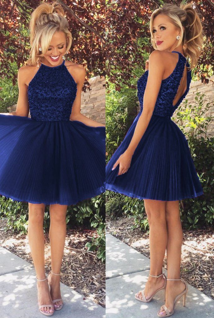 f90e1b4a315 Online Affordable Tulle Prom Dresses Short Keyhole Back Homecoming Dresses  For Semi Formal Occasions
