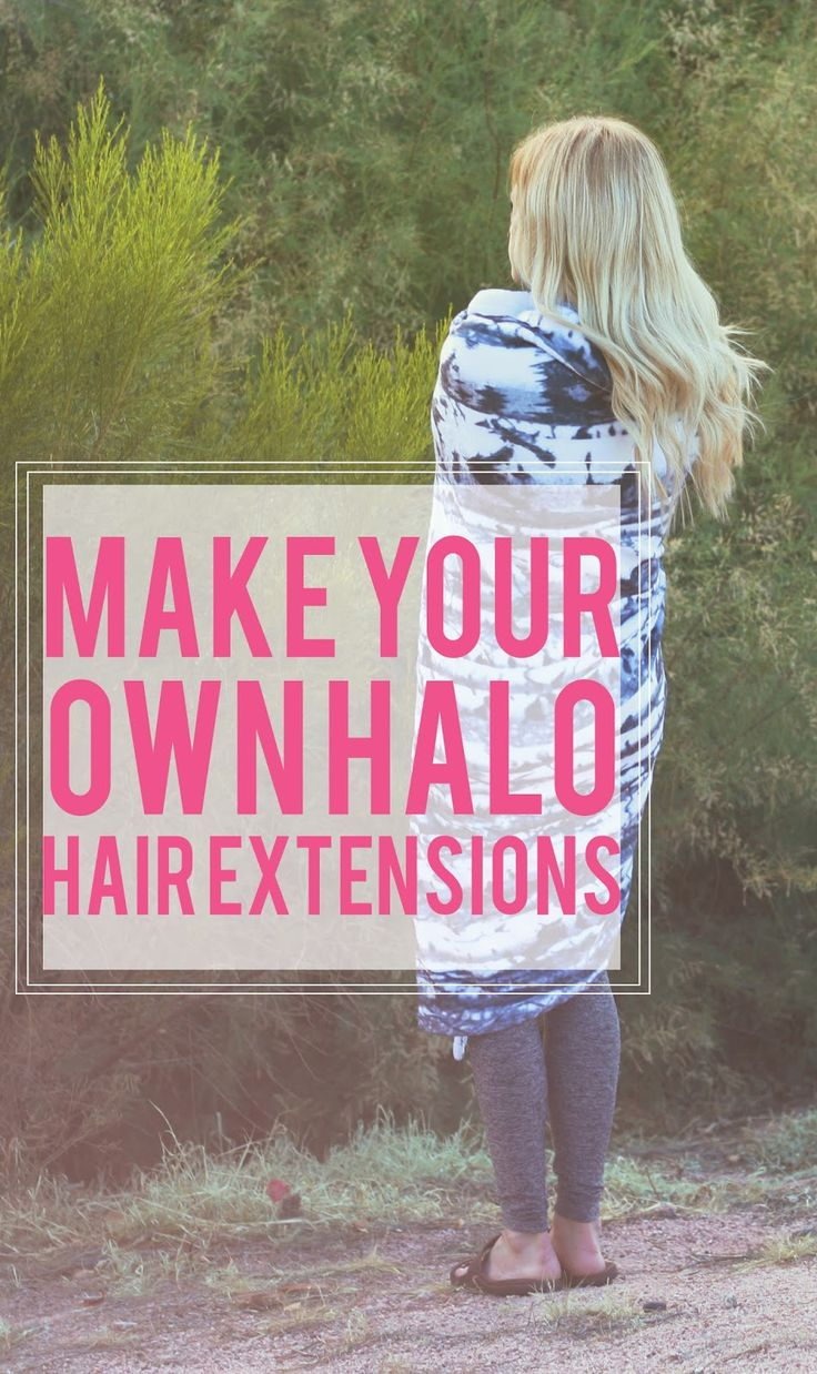 How to make your own hair extensions! super easy tutorial!