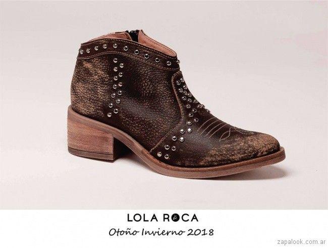 c47b7725e0a botitas cuero gastado invierno 2018 - Lola Roca