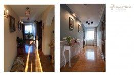 home staging- metamorfozy, hol, sztukateria, niebieskaie ściany  www.hs-wroclaw.pl
