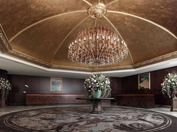 Hotel lobby at the Langham Auckland, New Zealand. #Travel #NewZealand #Auckland