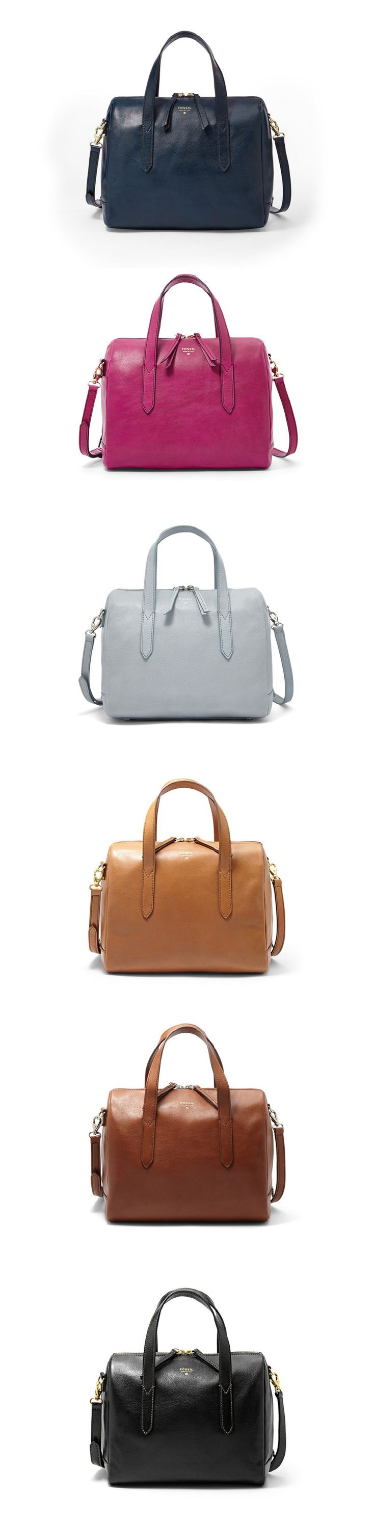 #Fossil Sydney Satchel in a curious color palette.