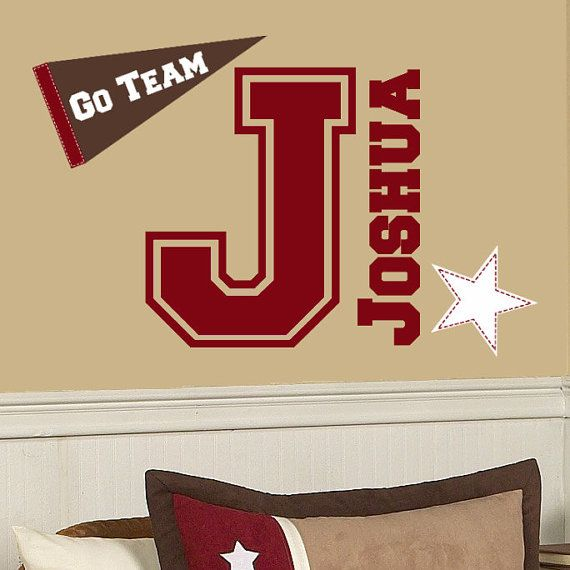 Best Varsity Theme Inspirations Images On Pinterest Child - Sporting wall decals