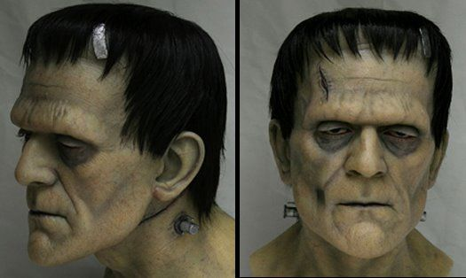 frankenstein face makeup | The stunning likeness is the work of British-born, L.A.-based artist ...