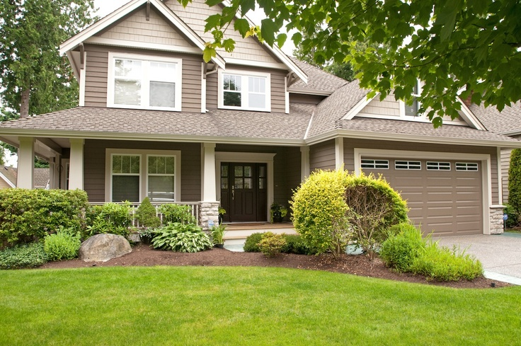 Brown house with white trim exterior paint colours - Brown house with white trim ...