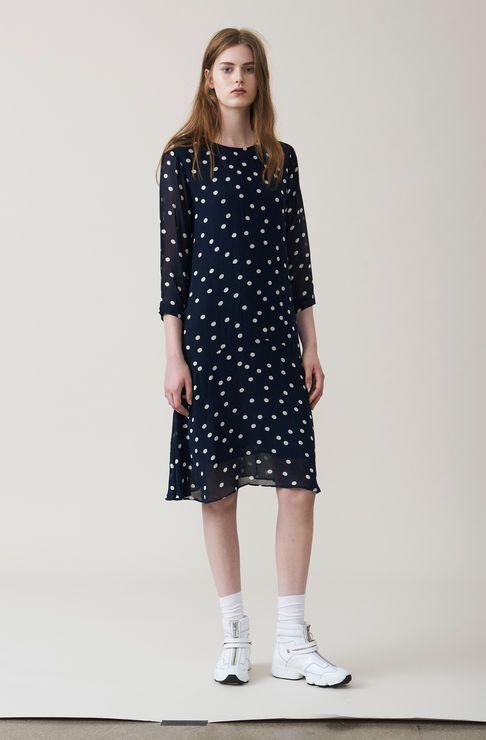 5d26d3ec Marceau Georgette Dress, Total Eclipse | GANNI School of London ...