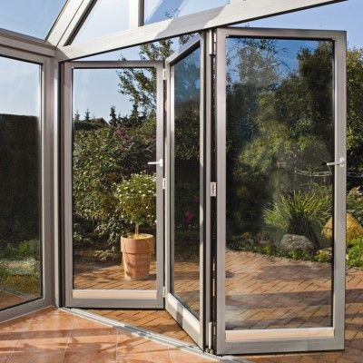 Example of a 3 section folding door