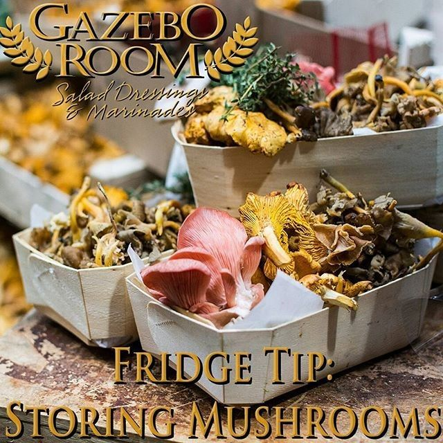 Mushrooms can be a great addition to your favorite salad but the slimy texture that they sometimes develop in their plastic wrapped containers makes them less than appetizing. Depending on the type mushrooms can keep well for over a week if you store them in your crisper inside a brown paper bag lined with paper towels. : @gazeboroomsaladdressings