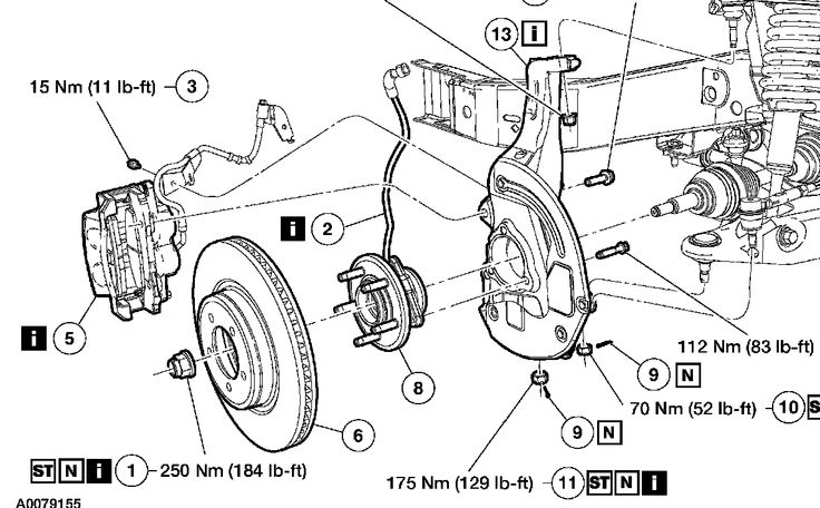how does a car wheel hub connect diagram