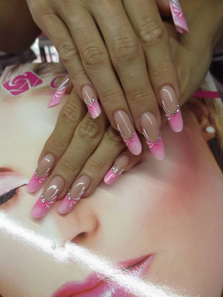 De 20 b sta id erna om french nails muster p pinterest for Nailart muster