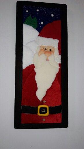 Papá Noel Patchwork sin aguja Navidad