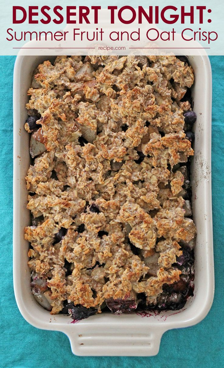 Pair this #fruitcrisp with coffee for breakfast and whipped cream for dessert!