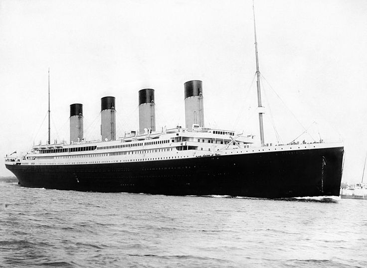 """Photo: RMS Titanic departing Southampton on 10 April 1912. Credit: F.G.O. Stuart; Wikimedia Commons. Read more on the GenealogyBank blog: """"Honeymooning on the Titanic"""" https://blog.genealogybank.com/honeymooning-on-the-titanic.html"""