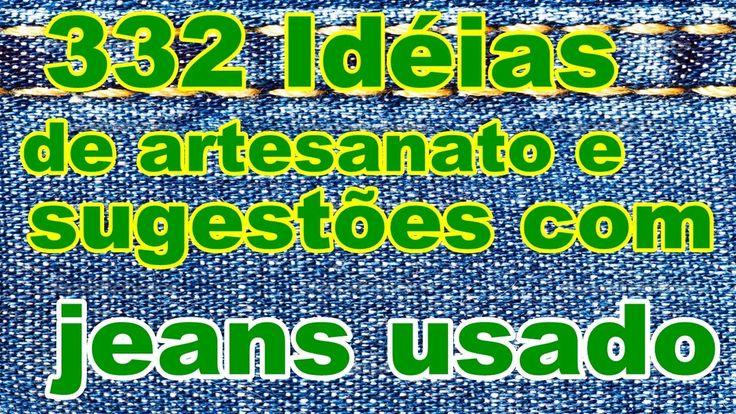 332 Idéias de artesanato e sugestões com jeans usado