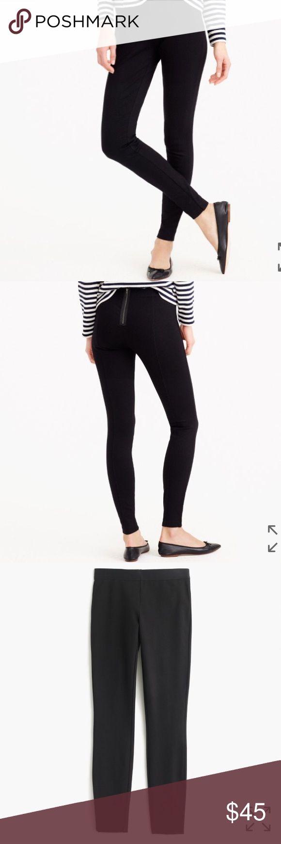 "J crew Pixie Pants Size 6S Heather Charcoal Gray J crew Pixie Pants Size 6S Short Heather Charcoal Gray Zipper closure on back  Elastic waist line  Waist- 14"" Inseam- 28.5"" J. Crew Pants Leggings"