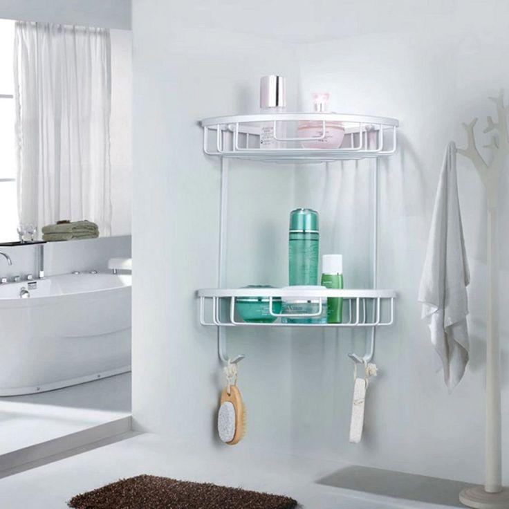12 Creative Triangle Bathroom Shelf Ideas for Unique Bathroom Organization   – Badezimmer Ideen