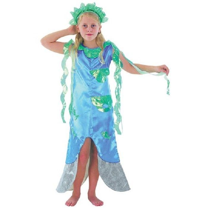 details about girls mermaid fancy dress costume kids book week under the sea outfit cc471 - Mermaid Halloween Costume For Kids