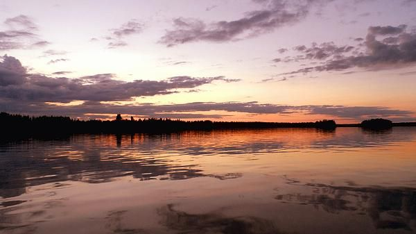 'Evening Falls' - photograph  - Evening falls on the last day of summer in Finland. The image was taken on the west coast of Finland near the village of Munsala.  #finland #ostrabotnia #munsala #finnish #sunset #scenic #water #sky #nature