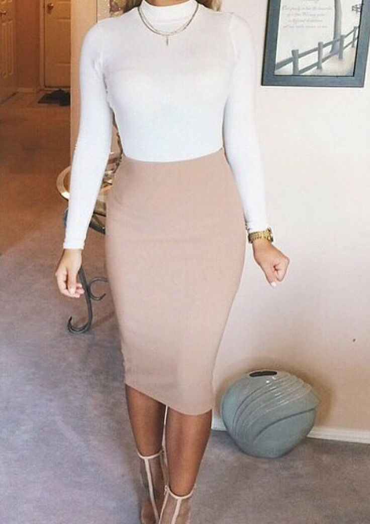 Kim K loves midi nude styles, check our PVC version here http://www.pinkboutique.co.uk/custard-nude-pvc-midi-skirt.html