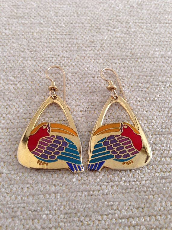Vintage Laurel Burch Signed Toucan Post Earrings Pinterest And Jewelry