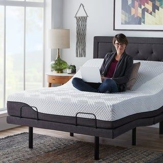 12 Inch Hybrid Mattress And L300 Adjustable Bed Set By Lucid Comfort Collection In 2020 Adjustable Beds Adjustable Bed Base Adjustable Bed Risers