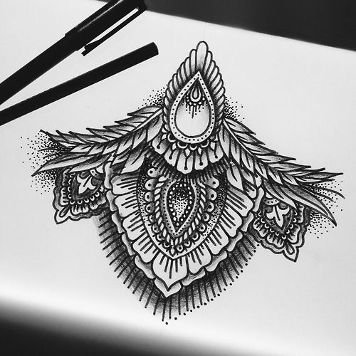 Sternum Tattoo but I would incorporate in owl tattoo not on sternum
