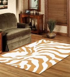 Sofiabrands Black Zebra Pattern Hand Tufted Rug