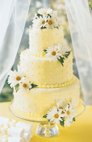 cute summer cake, Love yellow for summer wedding. Thanks Autumn!
