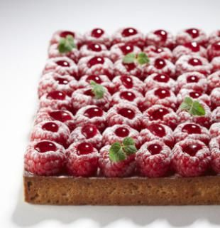 La tarte framboises by Cyril Lignac of La Pâtisserie in Paris.