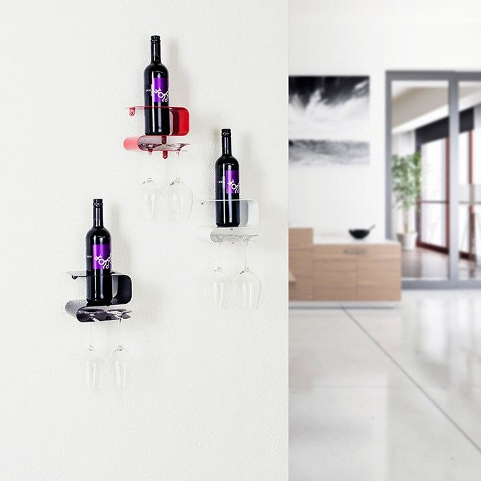 Etagère à bouteille et verres de vin - Cadeaux sur IdéeCadeau.fr