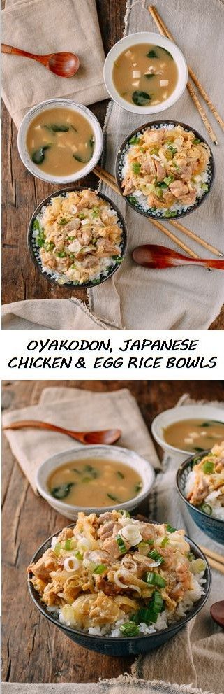 Japanese Chicken and Egg Rice Bowls recipe by the Woks of Life