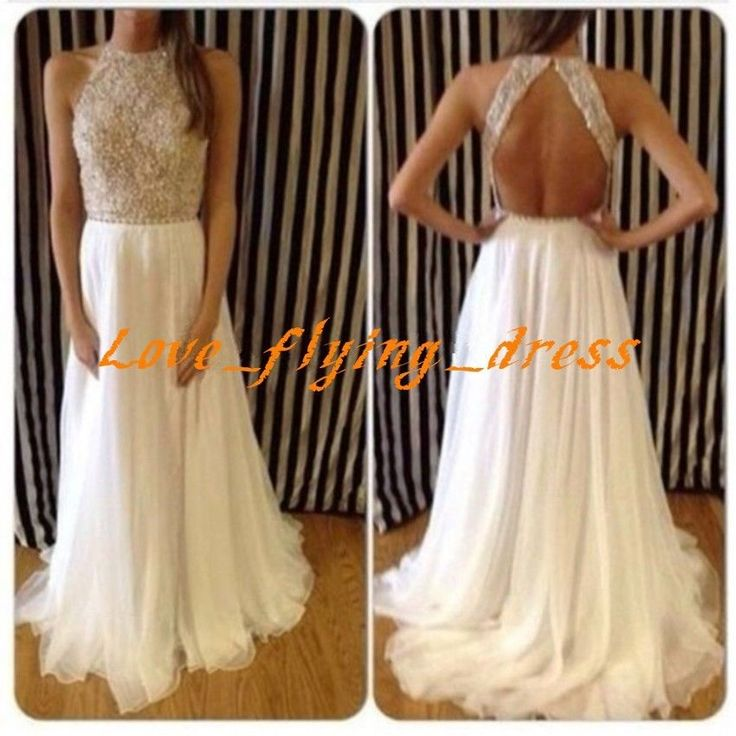 Amazing Beaded Chiffon Long Prom Pageant/Party Dress Formal Evening Gowns Custom