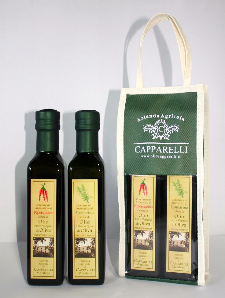 Oli aromatizzati : confezione con due bottiglie da 250 ml