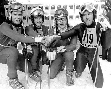 Ken Read, Jim Hunter, Dave Irwin et Dave Murray, Innsbruck 1976