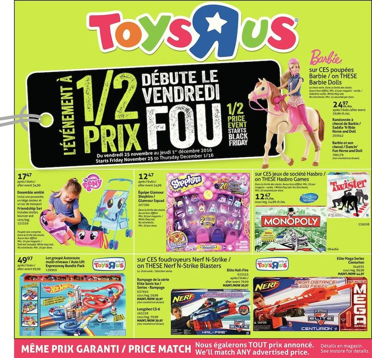 Prochaine circulaire toys r us sp ciaux promotions et for Domon circulaire