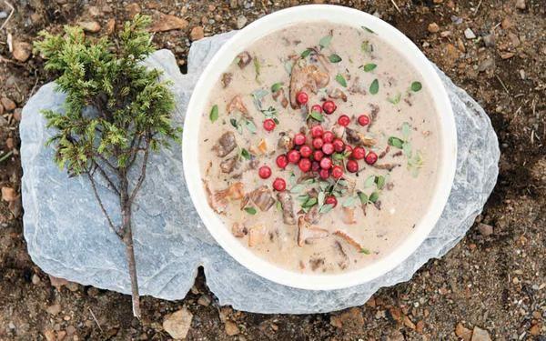 Enebærgryde - en ren klassiker, som efterhånden er blevet til en retroret. Sæt gryden over bålet og nyd på samme tid gamle minder og dejlig mad. Til 6. personer