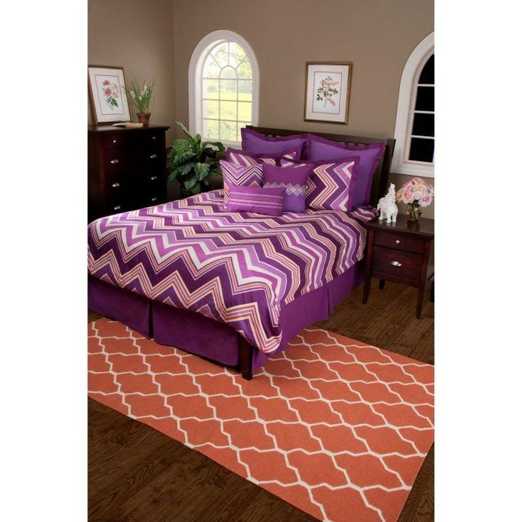 Rizzy Home Hippie Chic Plum Comforter Bed Set - BT1193CKCALIFORNIAKING