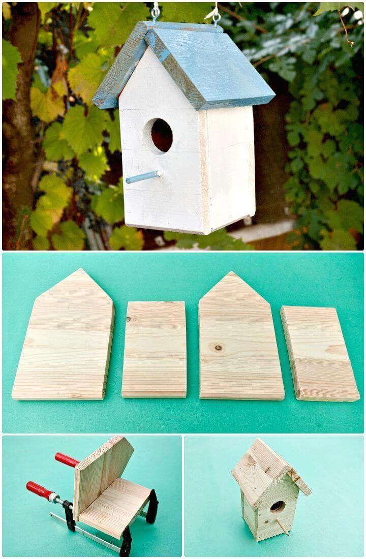 Easy Diy A Bird House Tutorial How To Build A Birdhouse 55 Easy