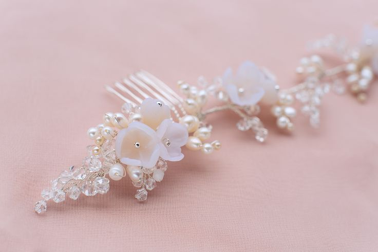 WHITE ROSE floral inspired hairvine #etherealbridalaccessories #bridaladornments #bridal #hairaccessories #hairvine