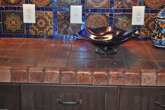 Terracotta Tile Countertops by Terramano Tile, via Flickr - looking for countertops