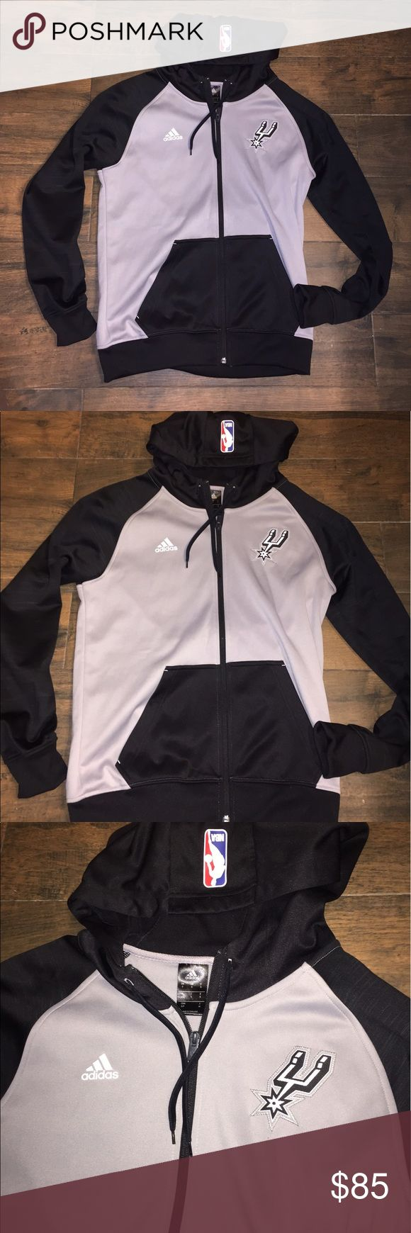 San Antonio Spurs jacket Hoodie NBA basketball S New without tags.  Rare.  Official on court jacket by adidas adidas Jackets & Coats Performance Jackets