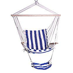 INDOOR OUTDOOR HAMMOCK CHAIR SALE – Durable Ropes, Straps And Cotton For Bedroom Hanging Or Backyard Tree Swing Hammocks – Portable For Camping – Great For Kids And Seniors – No Hammock Stand Required