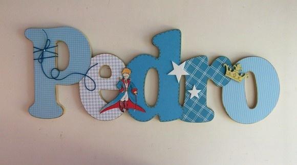 Nome em MDF, decorado em papel de scrap. Pode ser utilizado para decorar quarto, porta de maternidade e festa infantil. Fazemos no tema e nas cores desejadas R$60,00