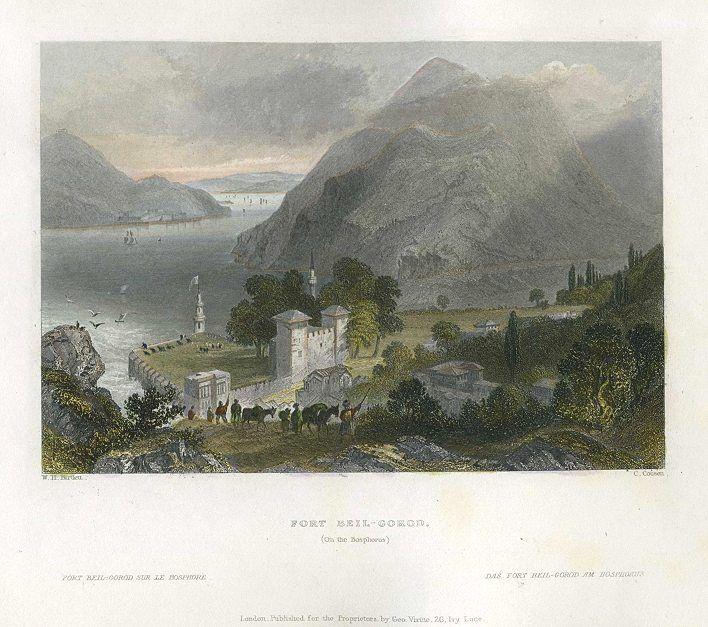 Turkey, Fort Beil-Gorod on the Bosphorus, 1838