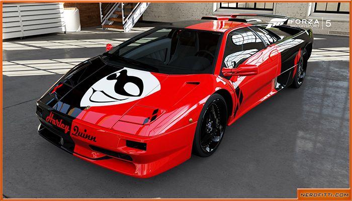 Harley Quinn Sports Car