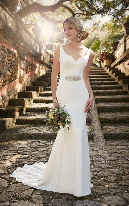 Modern Classic Wedding Dress by Essense of Australia                                                                                                                                                     More
