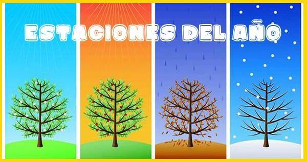 Primavera Verano Otono E Invierno Repasa Las Estaciones Del Ano Sus Caracteristicas Generales Y Utiliza Esta Fichas Para Four Seasons Seasons Weather Quiz