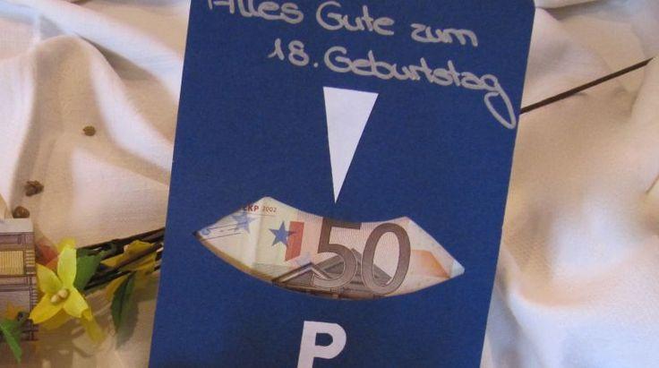 Parkscheibe zum 18. Geburtstag - Geldgeschenke