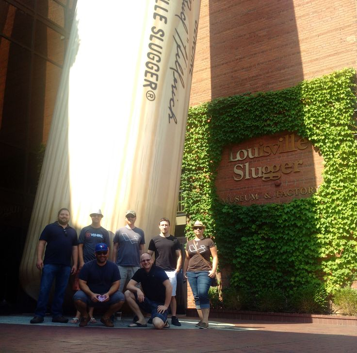 The team visits the Louisville Slugger Museum and Factory